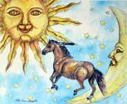 Horse with Sun and Moon