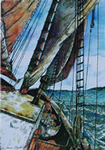 Windjammer watercolor