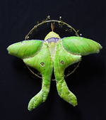 Fabric Luna Moth Sculpture